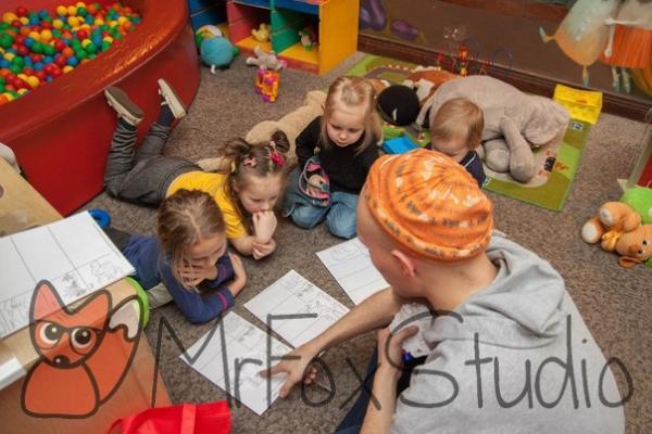 Музыкальный английский для детей в студии Mr Fox на Светлановском, СПб